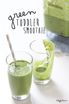 Green Toddler Smoothie Baby FoodE organic baby food recipes to inspire adventurous eating Click the image for more info.