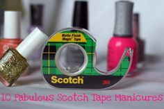 10 Fabulous Scotch Tape Manicures