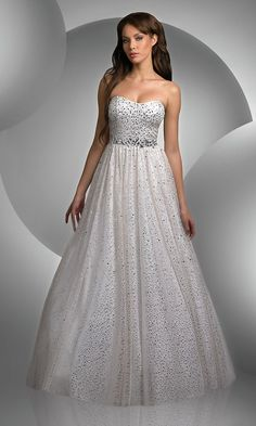 Strapless Sequin Ball Gowns, Shimmer Prom Gowns - Simply Dresses- i really like this dress