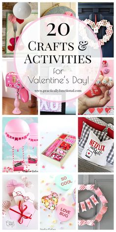 Valentine's Day is just around the corner! Here are 20 fun valentines crafts and activities to help you celebrate the holiday!