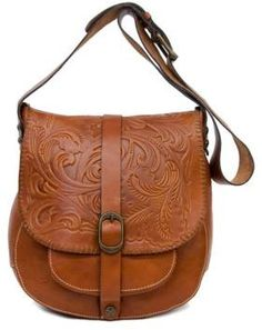 c04fcff28ac2 Patricia Nash - Tooled Barcellona Leather Saddle Bag. Satchel PurseCrossbody  BagLeather Satchel HandbagsLeather PursesTote ...