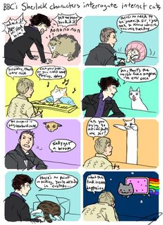 BBC's Sherlock Characters Interrogate Internet Cats... Sherlock + Internet cats = perfection