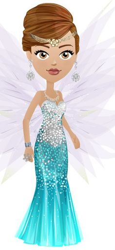 Mall world's model ( a game) dressed as a fairy .... luv the wings, the dress and the tiara