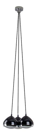 Lámpara de colgar RIDER 3L NEGRO D36 Ref.16074744  Lámpara de colgar en color negro y 3 luces para bombillas E14 (casquillo pequeño) de 25 w...