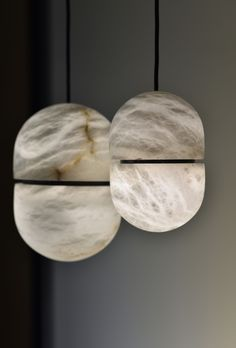 Discover Chandelier Yum, a lighting fixture from our new 2017 collection made up of stunning alabaster capsules #AAE #Chandelier #Alabaster