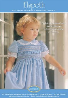 Elspeth - Downloadable Pattern.  I haven't smocked anything since the girls were little. Want to start again.
