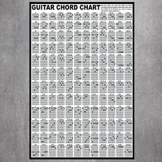 Guitar Chord Chart, Guitar Chords, Hotel Decor, Custom Posters, Poster Wall, Picture Wall, Silk Fabric, True Colors, Canvas Art Prints