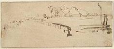 "Rembrandt - Landscape with a Farmstead (""Winter Landscape"")"