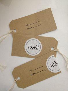 Luxo labels.