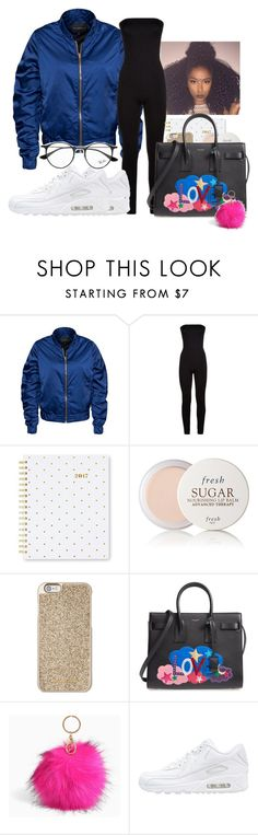 """""""Untitled #17"""" by kaywhyareayeee ❤ liked on Polyvore featuring Rut&Circle, Wolford, Sugar Paper, Fresh, Michael Kors, Yves Saint Laurent, Torrid, NIKE and Ray-Ban"""