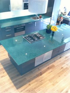 Recycled Glass island top