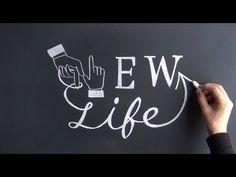 大人黒板おしゃれなチョークアート、チョークレタリングの描き方