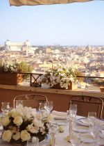 Deluxe 5 Stars Hotel On The Spanish Steps: View from the floor panoramic terrace