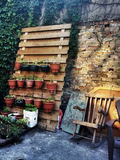 Vertical Container Gardening- great idea for a small space.