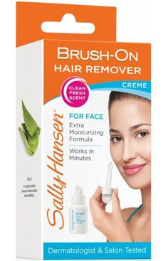 Brush-On Hair Remover - Facial Hair Removal Cream by Sally Hansen Facial Hair Removal Cream, Natural Hair Removal, Natural Hair Styles, Remove Unwanted Facial Hair, Unwanted Hair, Home Design, Wax Strips, Waxing Kit, Hair Removal Remedies