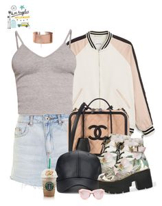 """""""Untitled #1287"""" by livirose ❤ liked on Polyvore featuring Monki, BasicGrey, Topshop, Karen Walker and Claudia Pearson"""