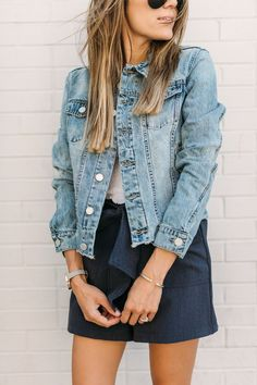 Denim Jacket Look, A Great Layer To Add For Summer Check out more cute clothes on our website!