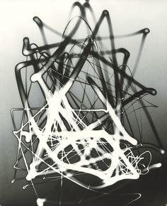 Herbert Matter photographic light drawing - 1943