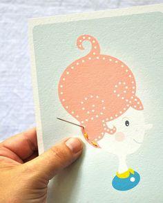 Shake My Blog | Des cartes à broder pour les enfants #diy #enfant