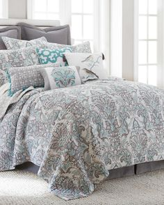 Legacy Leaf Print Luxury Quilt Collection-Quilts-Bedding-Bed & Bath | Stein Mart