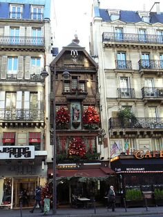 McDonald's, Paris. :)  First stop in Paris after arrival, train & broke multi level escalator to hotel!  Needed a Coca-cola!!!
