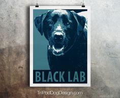 Black Lab Dog - Pop Art - Customizable - Political Poster Parody - Digital Download Printable