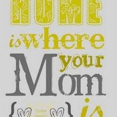 DIY : Free Mother's Day Printable. (Home is where you mom is)