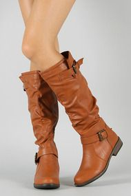 Bamboo Montage-02N Riding Buckle Knee High Boot