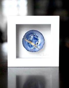 Kintsugi Eggshells Mini 86 Framed Art, Japanese Art, Japanese, Visual, Pottery, Kintsugi, Art, Ink