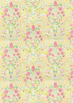 """Wallpaper design similar to Palmer Brown's illustration style, from """"Beyond the Pappaw Trees"""""""