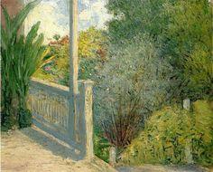 """""""La Véranda"""", huile sur toile de Julian Alden Weir (1852-1919, United States)"""