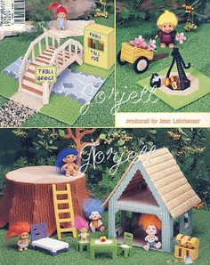 doll furniture using plastic canvas