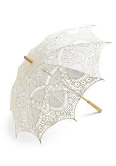 Vanilla Skies Parasol | Mod Retro Vintage Umbrellas | ModCloth.com
