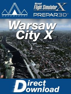 DRZEWIECKI : Warsaw City X Warsaw City Xis a sophisticated scenery package, featuring a highly detailed scenery of Warsaw city in Poland with surrounding airports. This product is compatible with FSX and Prepar3D.  Warsawis the capital and the largest city of Poland. It is located on the Vistula (Wis³a) River, roughly 260 kilometers (160 mi) from the Baltic Sea and 300 kilometers (190 mi) from the Carpathian Mountains. Its population is estimated at 1,708,491 residents within a greater…