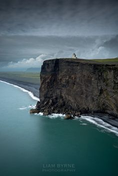 At the Sea Cliffs in Vik, Iceland.-At the Sea Cliffs in Vik, Iceland. At the Sea Cliffs in Vik, Iceland. Places Around The World, Oh The Places You'll Go, Places To Travel, Places To Visit, Travel Destinations, Travel Tips, Landscape Photography, Travel Photography, Photography Tricks