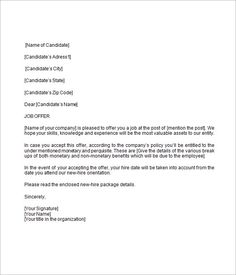 Job Offer Letter Template for Uk Letter Templates Write Quick