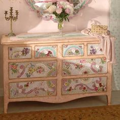 Image detail for -Renaissance Up Country Chest of Drawers Mosaic Wares Mosaic Furniture . Furniture, Furniture Makeover, Shabby Chic, Mosaic Furniture, Diy Furniture, Painted Furniture, Shabby, Furniture Inspiration, Redo Furniture