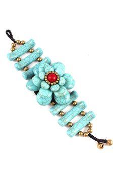 Fia Bracelet in Turquoise Slices