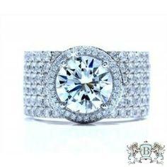 Blount Jewels 4.94 Cttw Round Brilliant Diamond Engagement Ring