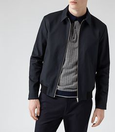 At REISS you will find the best mens fashion clothing. We have lots of popular styles available for the modern man. Black Bomber Jacket Outfit, Bomber Jacket Men, African Clothing For Men, Mens Clothing Styles, Daddy Birthday, Harrington Jacket, Herren Outfit, Best Mens Fashion, Ss16