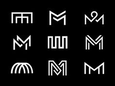 "Logo Design Inspiration Discover MM-onograms A selection of ""MM"" monograms that Ive been working on for past couple months. Ive gone through way too many for individual posts. Still a WIP but I thought Id update you guys on some of the. Wm Logo, Typo Logo, Logo Branding, Typography, Lettering, Identity Design, Brand Identity, Bts Design Graphique, Typographie Logo"