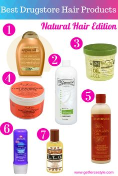 Natural Hair products you can find right in your local drugstore! #naturalhair #beauty
