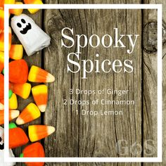 There's not much spooky about this essential oil diffuser blend. Ginger, cinnamon and lemon essential oils would add that special touch to essential oil diffuser blends Essential Oils For Nausea, Fall Essential Oils, Ginger Essential Oil, Essential Oil Diffuser Blends, Essential Oil Uses, Young Living Essential Oils, Doterra Diffuser, Perfume, Snacks