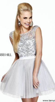 Dramatic White Homecoming Dress Short Sherri Hill 2814 - dresses ...