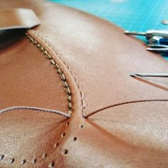 < Penny from Vickermann & Stoya Shoes, Ba. Penny from Vickermann & Stoya Shoes, Baden-Baden Leather Art, Sewing Leather, Leather Gifts, Leather Bags Handmade, Custom Leather, Leather Tooling, Leather Jewelry, Leather Purses, Leather Shoes