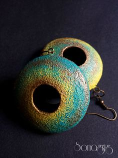 Polymer clay hollow earrings Polymer clay by sonagrigoryan on Etsy