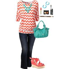 A fashion look from July 2014 featuring Old Navy jeans and ALDO sandals ~ I usually don't like orange but I'm LOVING this!
