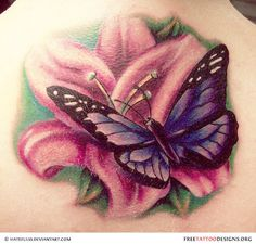 28 Best Butterfly And Flower Tattoo Designs Images Butterflies