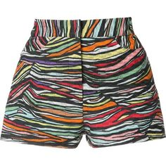 Missoni intarsia knit shorts (10.791.625 IDR) ❤ liked on Polyvore featuring shorts, multicolor, missoni, colorful shorts, multi colored shorts, missoni shorts and knit shorts