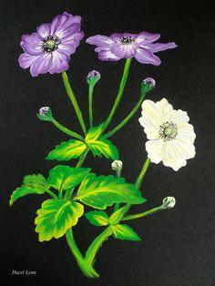 One Stroke Painting. Hazel Lynn.